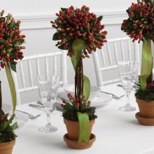 Topiary Trio Reception Centerpiece