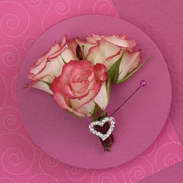 Heart-Shaped Boutonniere