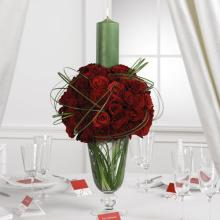 Rose Sphere Candle Centerpiece