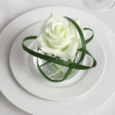 Individual Flower at Place Setting