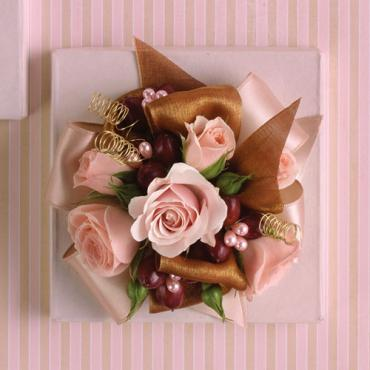 Pink and Brown Corsage
